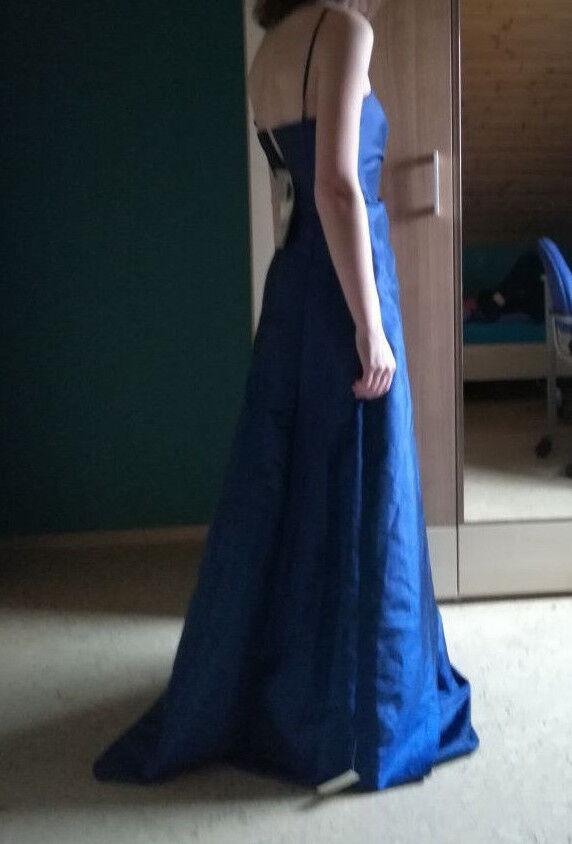 Marken Ballkleid Abi Kleid Abendkleid blau von Wedding Gr. 34 32 XS  Neu