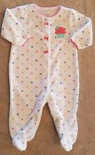 CARTER'S 3 MONTH TERRY CLOTH CUPCAKE FOOTED SLEEP N PLAY OUTFIT ADORABLE
