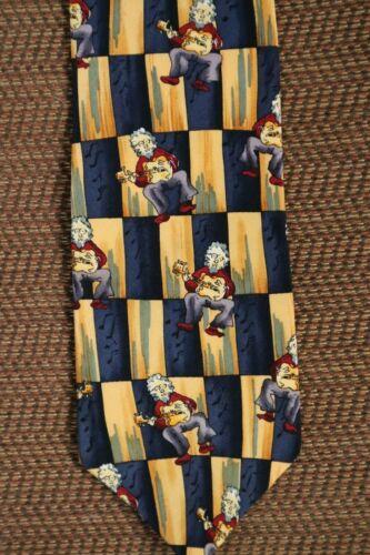 Multicolored J GARCIA Silk Neck Tie w/ Self Portra