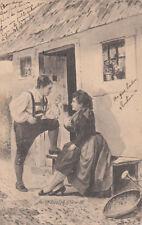 CPA SUISSE SCHWEIZ fec. ch. scolik. wirv VIII. gestempelt 1904