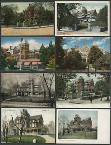 Albany-NY-Eight-c-1905-50s-Postcards-GOVERNOR-039-S-RESIDENCE-MANSION