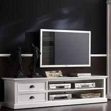 NOVASOLO HALIFAX CA592-180 TV SCHRANK LOWBOARD WEISS 180 CM  MASSIV SHABBY LOOK
