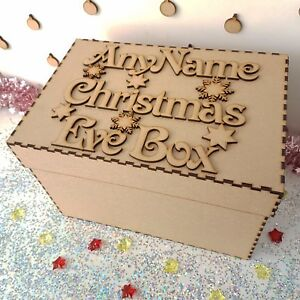 Wooden-Personalised-Christmas-Eve-Box-And-Topper-mdf-Xmas-Gift-Memory-Box-S321