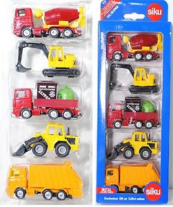 6283 SIKU 5er Geschenkset 4 Baufahrzeuge günstig kaufen Spielzeugautos & Zubehör