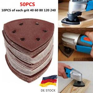 50 Stück 90mm Schleifblätter Multimaster Schleifpapier Sortiment für Fein Holz