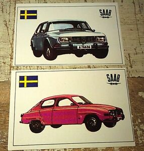 SAAB - Famous Cars by Top Sellers Ltd UK Trade Cards RARE