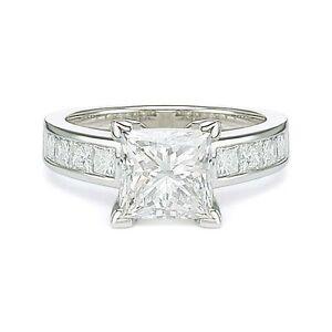 4-51ct-G-SI2-PRINCESS-CUT-DIAMOND-ENGAGEMENT-RING-14K-WHITE-GOLD