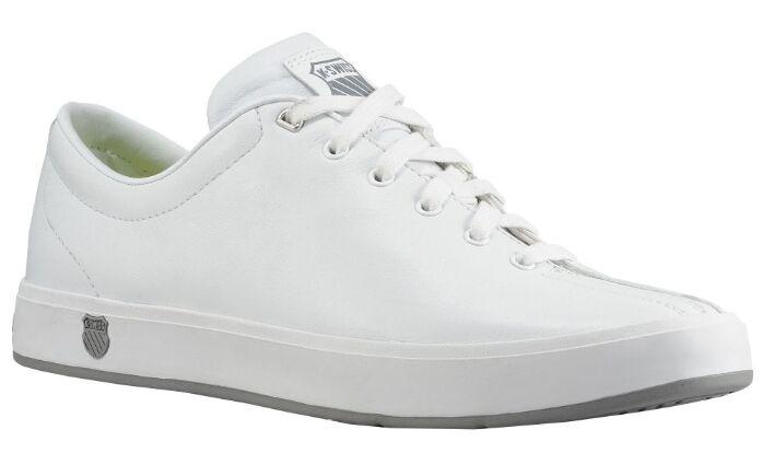 K-Swiss CLEAN CLASSIC White White Training Shoes 02874156 Sz7-10.5 Fast Ship L