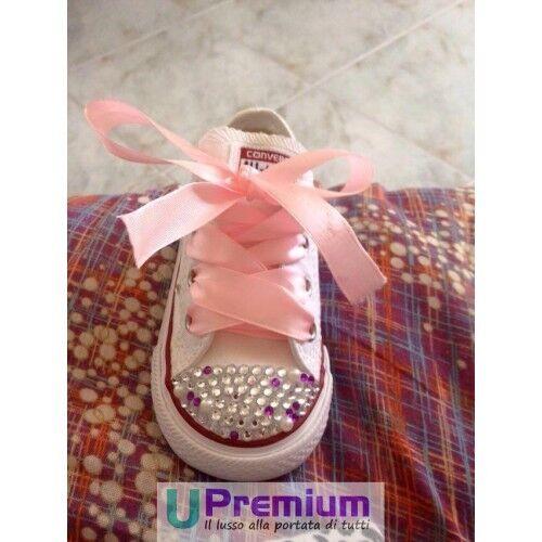 Scarpe Perle All Swarovski Borchiate prodotto Converse H 2 Personalizzato Star 4wF0qdxtp