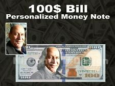 REAL $1 Dollar with Your FACE /& NAME Picture Custom Personalized Cash Money Bill
