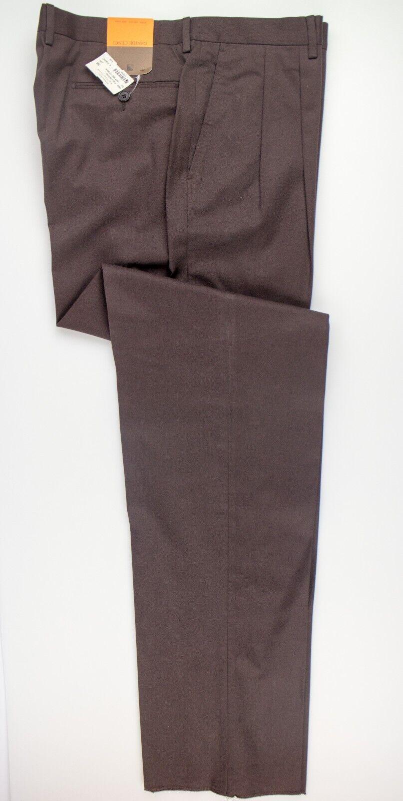 NWT Davide Cenci Men's Brown 100% Cotton Dress Pants Size 40