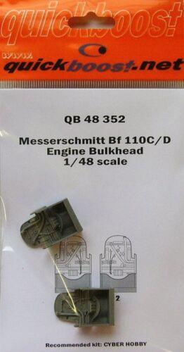 Quickboost 1//48 Messerschmitt Bf110C//D Engine Bulkhead # 48352