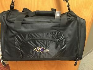 Details About Nwt Baltimore Ravens Black Duffle Bag Nfl
