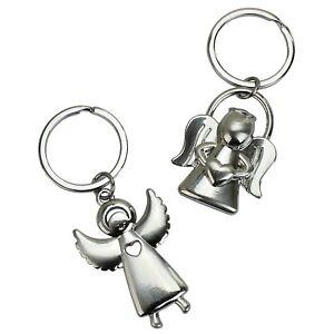 2er Set Metall Schlüsselanhänger mit Karabiner Anhänger Schlüsselring
