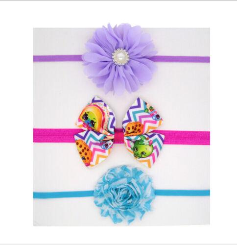 3Pcs Newborn Kids Girls Toddler Flower Headband Baby Headwear JC