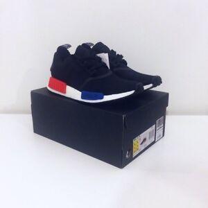 Adidas-NMD-Runner-R1-Primeknit-PK-UK-9-Original-OG-Colour-AKA-Black-Lush-Red