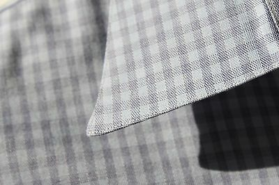 Hickey Freeman 17L Gentleman's Light Blue Check LS Dress Shirt