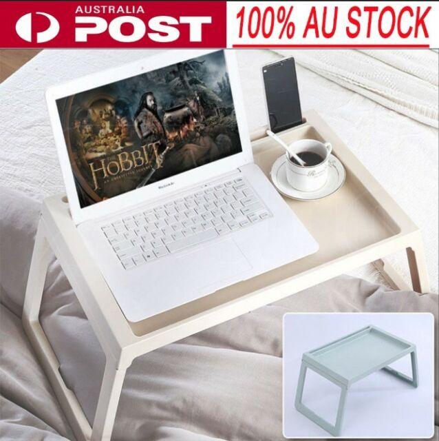 Foldable Desk Lazy Bed Sofa Table Computer Holder Portable Serving Tray Beige