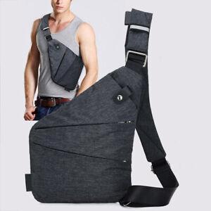 Waterproof Personal Shoulder Pocket Bag Men Travel Anti Theft Security Strap