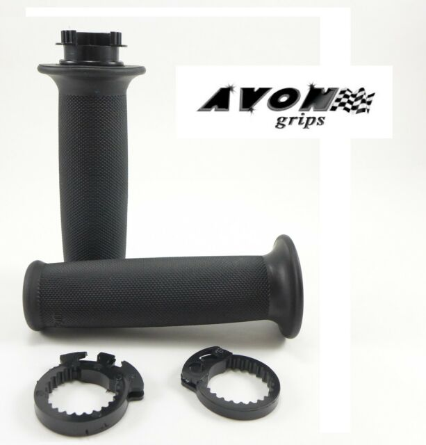 "Avon Custom Contour Rubber Superbike Motorcycle Grips 7/8"" Handlebar Yamaha"