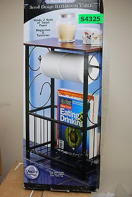Gramercy Scroll Design Bathroom Table/Toilet Paper Holder /Magazine (NIB) #S4325