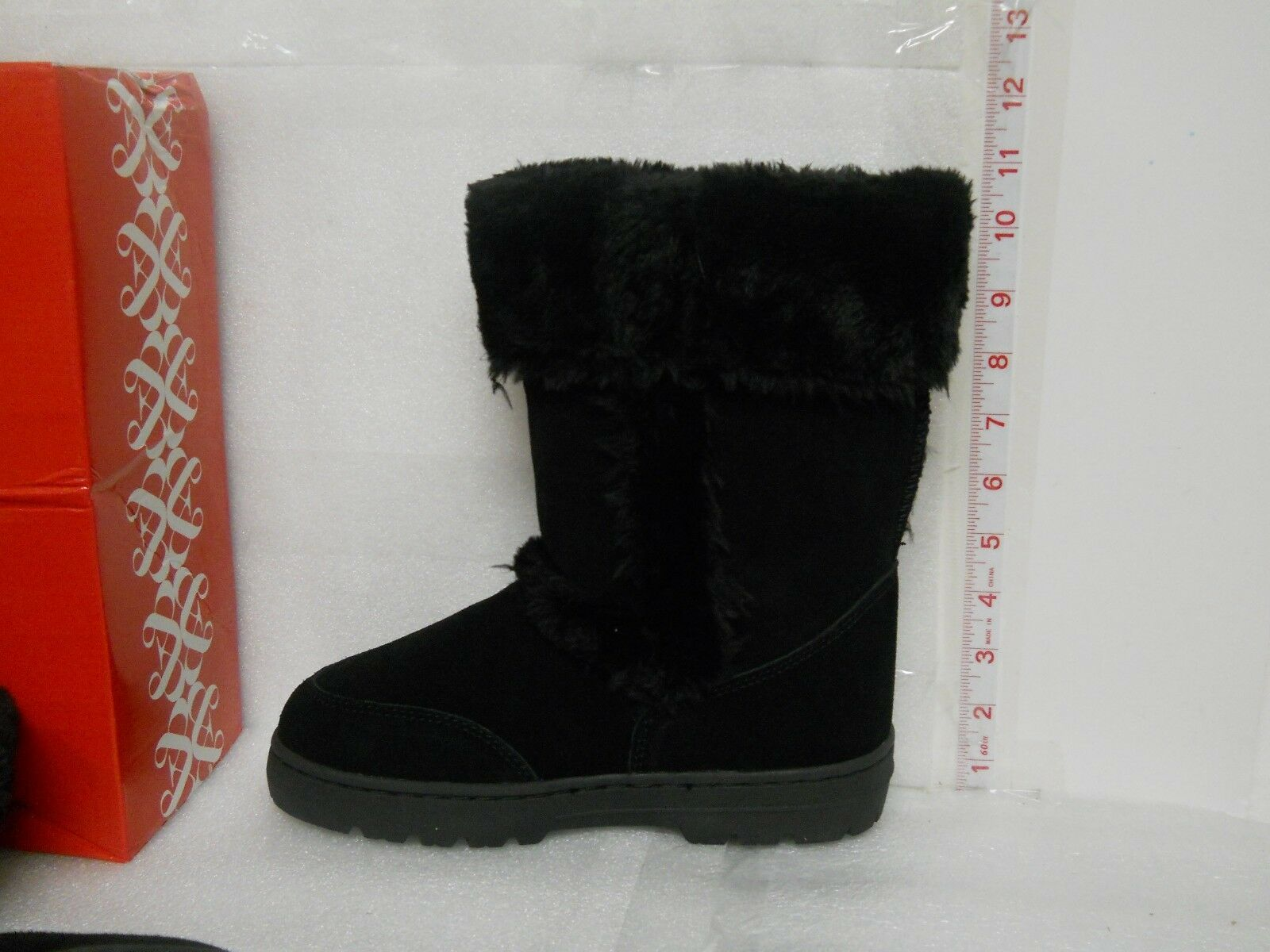 Style & Co Co Co New Womens Witty Black Leather Boots 7 M shoes NWB 4c590f