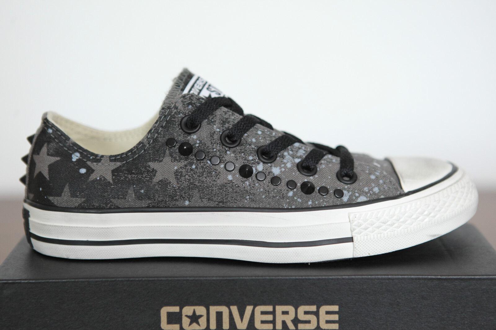 Neu Bll Star Converse Chucks low Sneaker Schuhe Charcoal Studded 142221c