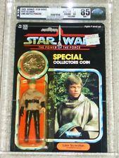Vintage Star Wars 1985 LUKE SKYWALKER BATTLE PONCHO AFA 85/85/85 MOC POTF Card B