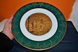 Intelligent Ancienne Assiette Porcelaine Gloria Bayreuth -antique Plate-or 22 Carats - Elfes Produits Vente Chaude