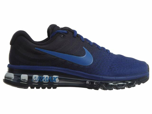 Mens Nike Air Max 2017 Running Shoes Royal Blue Black Cobalt 849559 401