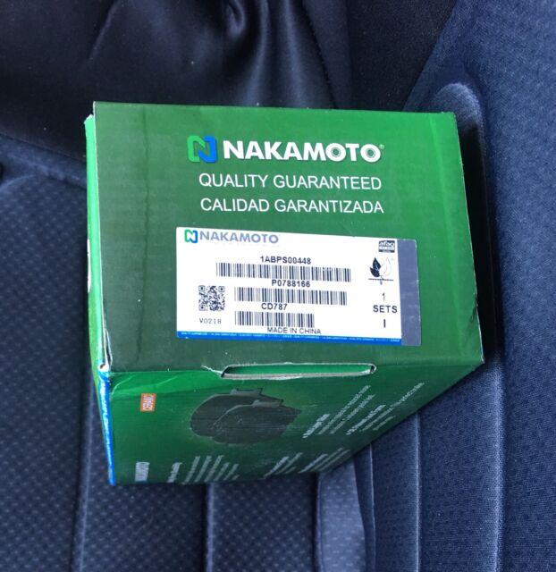 Nakamoto Front Premium Posi Ceramic Disc Brake Pad Kit Set for Acura Honda Isuzu