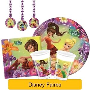 Image Is Loading DISNEY FAIRIES MAGIC Birthday Party Range TINKERBELL Tableware