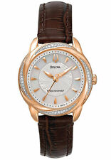 Bulova Womens 98R152 Precisionist Brightwater 20 Diamond Accnted Rose-Gold Watch
