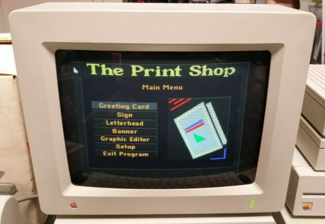 Vintage Apple A2M6014 AppleColor RGB Color Computer Monitor For Apple IIGS 2GS
