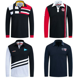 New-Mens-Warm-Long-Sleeve-Cotton-T-Shirt-Patchwork-Polo-Shirt-with-Embroidered