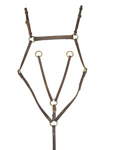 Stockmans-Horse-PVC-Breastplate-Martingale-Rings-In-Pony-Cob-Full-Xfull