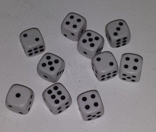 25 Stück 16mm Weisse Würfel € 0,37//St Augen Würfel Spielwürfel  Knobelwürfel