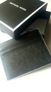 8d6333d1cd28 NEW Michael Kors Men s Jet Set MK Logo Card Case Holder Wallet ...