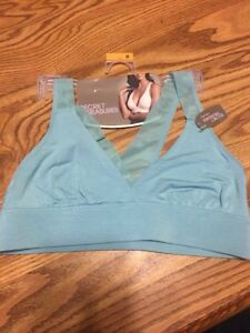 0cb6a851fa3b85 NWT Women s SECRET TREASURES Size M 34B 34C Aqua Bralette Comfy ...