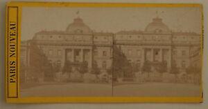 Parigi-Nouveau-Palais-Da-Justice-Francia-Foto-Stereo-L44-Vintage-Albumina-c1870