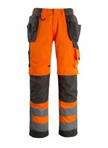 Humoristique Mascot Wigan 40 Waist X 32 Leg Measured High Vis Work Trousers Holster Pockets Bon GoûT