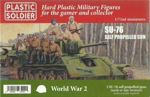 Plastic Soldier 1/72 Su-76m Automoteur Pistolet (3 Fast Assemblage Véhicules)