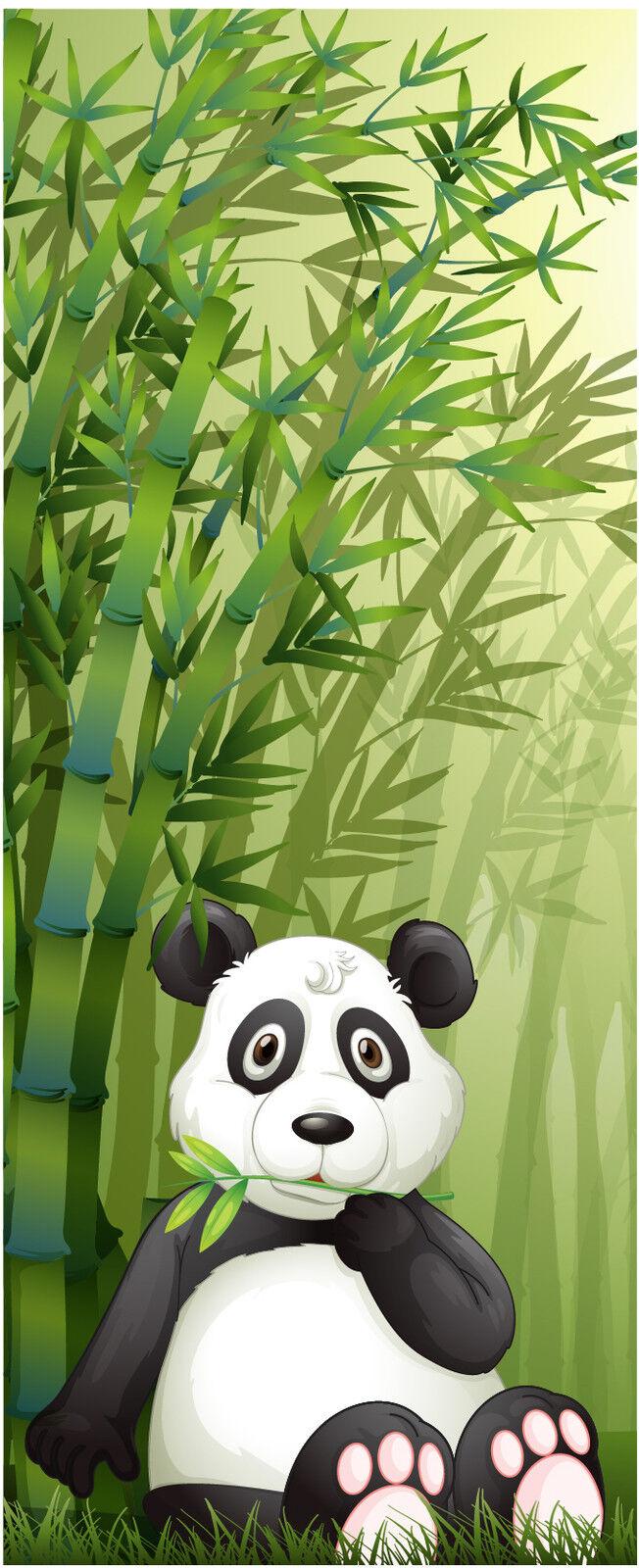 Aufkleber Kind Tür Panda Pandabär Ref