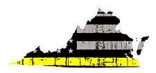 Virginia State (E46) Thin Yellow Line Dispatch Vinyl Decal Sticker Car/Truck