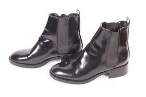 präsentieren Original- große Vielfalt Stile Details zu 30D Zara Damen Chelsea Boots Stiefeletten Kunstleder Lackoptik  Gr. 37 flach