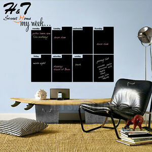 Image Is Loading WeekCalendarPlanChalkboardBlackboardVinylWallDecal