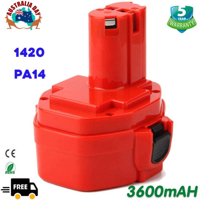14.4V 3.6Ah For Makita PA14 Ni-MH Battery 1420 1433 1435 1435F 1422 6237D 192699