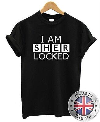 "Sherlock Holmes ""I Am Sherlocked"" T-Shirt S-XXL Mens Womens"
