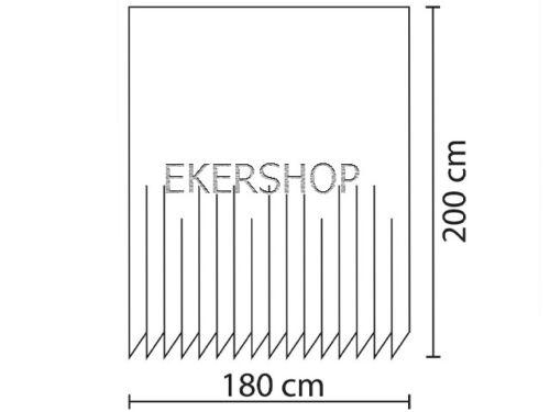 HOCHWERTIGER DUSCHVORHANG TEXTIL SCHWARZ 180 x  200 cm inkl schwarzer Ringe