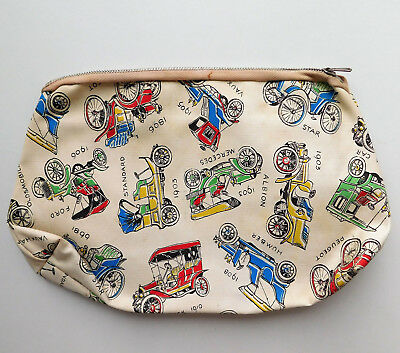 Vintage wash bag with classic car design Mens boys toilet/ sponge bag Buick Star